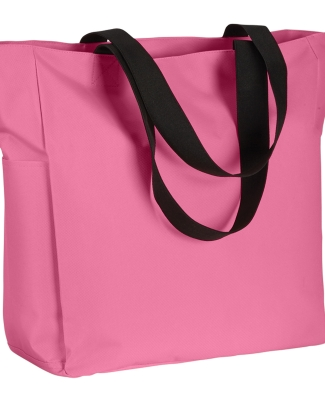 BE080 BAGedge Polyester Zip Tote PINK