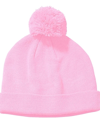 BX028 Big Accessories Knit Pom Beanie PINK