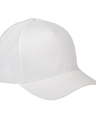 BX034 Big Accessories 5-Panel Brushed Twill Cap WHITE