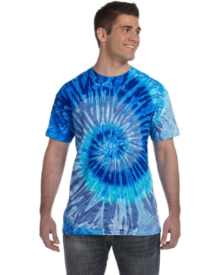 H1000 Tie-Dyes Adult Tie-Dyed Cotton Tee BLUE JERRY