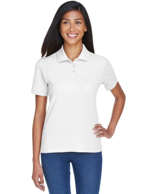 D112W Devon & Jones Ladies' Pima Piqué Short-Sleeve Polo WHITE