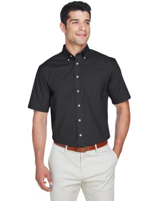 D620S Devon & Jones Men's Crown Collection™ Solid Broadcloth Short-Sleeve Shirt BLACK