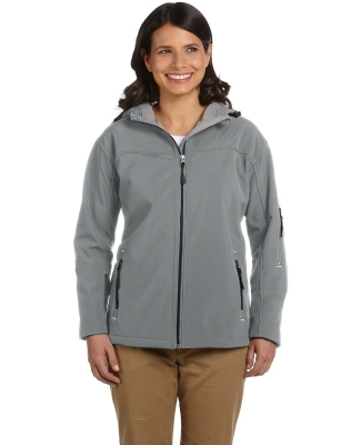 D998W Devon & Jones Ladies' Soft ShellHooded Jacket CHARCOAL