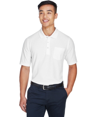 DG150P Devon & Jones Men's DRYTEC20™ Performance Pocket Polo WHITE