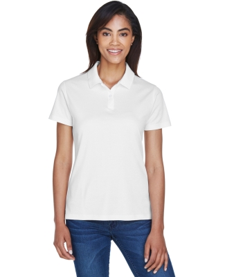 DG200W Devon & Jones Ladies' Pima-Tech Jet Pique Polo WHITE