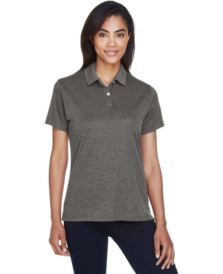 DG210W Devon & Jones Ladies' Pima-Tech™ Jet Piqué Heather Polo DK GREY HEATHER