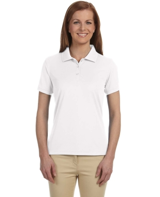 DG385W Devon & Jones Ladies' Dri-Fast™ Advantage™ Solid Mesh Polo WHITE