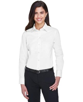 DG530W Devon & Jones Ladies' Crown Collection™ Solid Stretch Twill WHITE