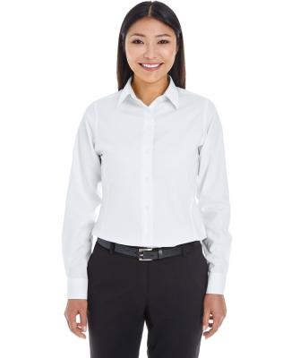 DG532W Devon & Jones Ladies' Crown Collection™ Royal Dobby Shirt WHITE