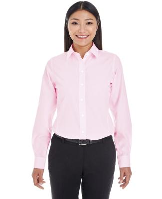 DG534W Devon & Jones Ladies' Crown Collection™ Striped Shirt PINK/ WHITE
