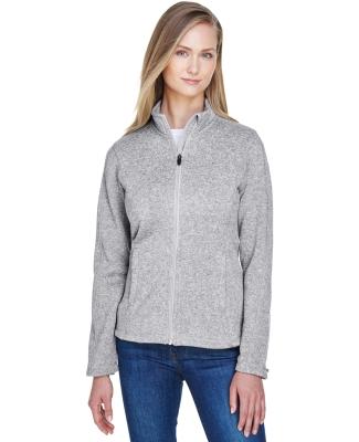 DG793W Devon & Jones Ladies' Bristol Full-Zip Sweater Fleece Jacket GREY HEATHER