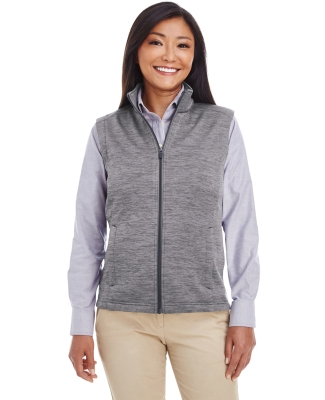 DG797W Devon & Jones Ladies' Newbury Mélange Fleece Vest DARK GREY HEATHR