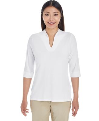 DP188W Devon & Jones Ladies' Perfect Fit™ Tailored Open Neckline Top WHITE