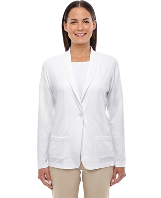 DP462W Devon & Jones Ladies' Perfect Fit™ Shawl Collar Cardigan WHITE
