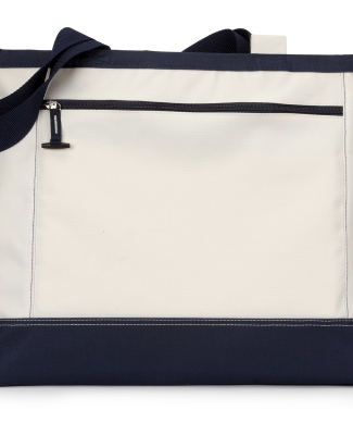 G1510 Gemline Utility Tote NATURAL/ NAVY