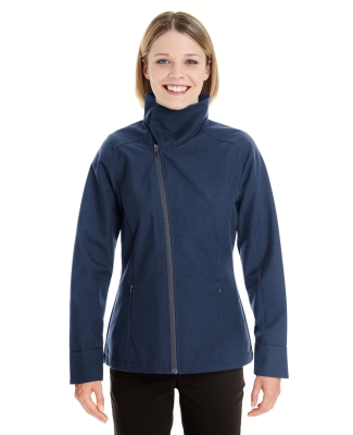 North End NE705W Ladies' Edge Soft Shell Jacket with Convertible Collar NAVY