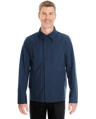 North End NE705 Men's Edge Soft Shell Jacket with Fold-Down Collar NAVY