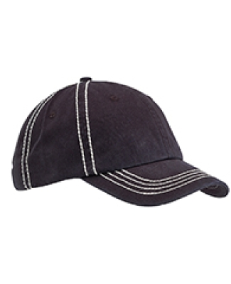 BA509 Big Accessories Contrast Thick Stitch Unstructured Cap BLACK/ CREAM