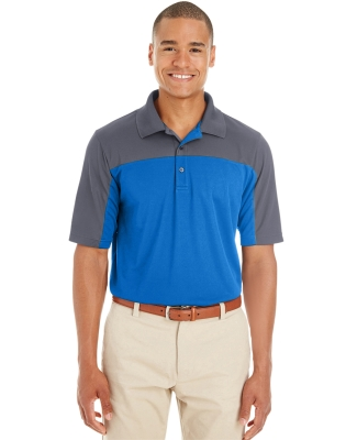 CE101 Ash City - Core 365 Men's Balance Colorblock Performance Piqué Polo TR ROY/ CRBN 438