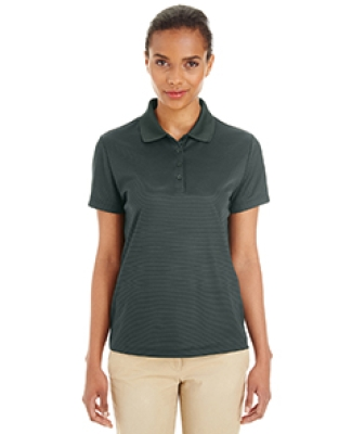 CE102W Ash City - Core 365 Ladies' Express Microstripe Performance Piqué Polo FOREST/ CRBN 630