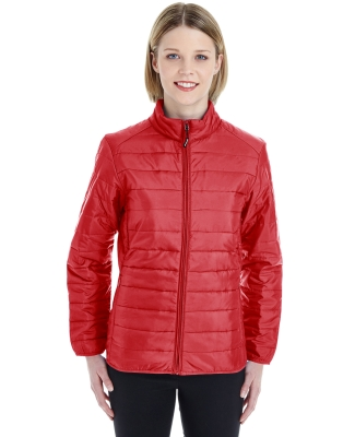 CE700W Ash City - Core 365 Ladies' Prevail Packable Puffer CLASSIC RED 850