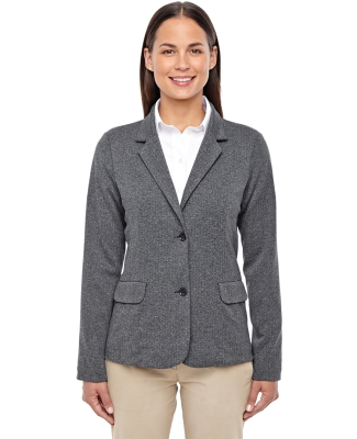 D886W Devon & Jones Ladies' Fairfield Herringbone Soft Blazer DK GREY HEATHER