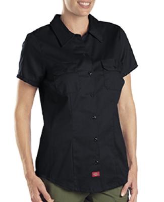 FS574 Dickies 5.25 oz. Ladies' Twill Shirt BLACK