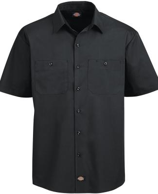 LS516 Dickies 4.25 oz. WorkTech with AeroCool Mesh Premium Performance Work Shirt BLACK