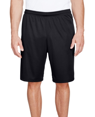 N5338 A4 Drop Ship Men's 9 Inseam Pocketed Perform BLACK