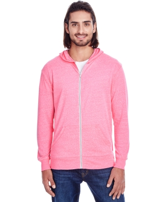 302Z Threadfast Apparel Unisex Triblend Full-Zip L NEON PINK TRIBLD
