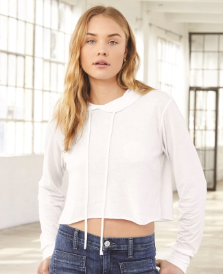 Bella + Canvas 8512 Fast Fashion Women's Triblend Cropped Long Sleeve Hoodie Catalog