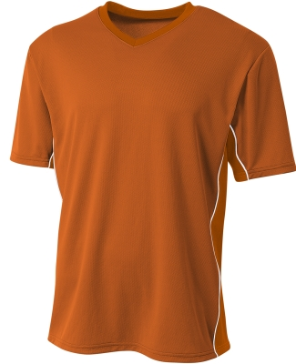 A4 Apparel N3018 Men's Liga V-Neck Soccer Jersey ATHLETIC ORANGE