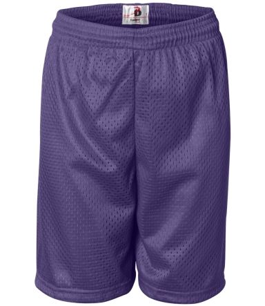 2207 Badger Youth Mesh/Tricot 6-Inch Shorts Purple