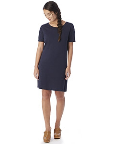 Alternative 2902 Straight Up Cotton Modal T-Shirt Dress MIDNIGHT