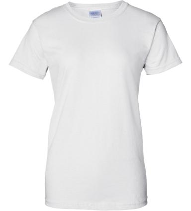 2000L Gildan Ladies' 6.1 oz. Ultra Cotton® T-Shirt WHITE