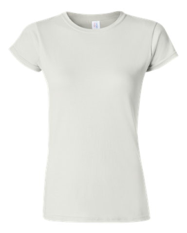 64000L Gildan Ladies 4.5 oz. SoftStyle™ Ringspun T-Shirt WHITE