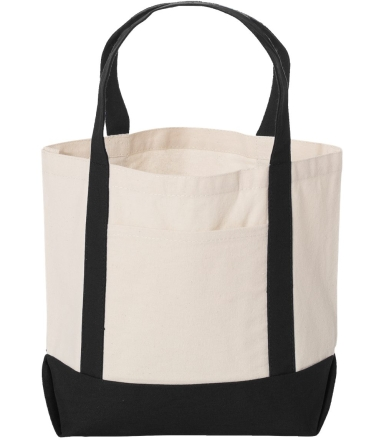 Liberty Bags 8867 Seaside Cotton Canvas Tote BLACK