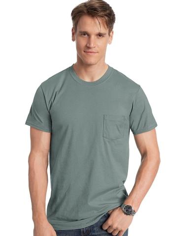 Hanes 498P Nano-T Pocket T-Shirt Catalog