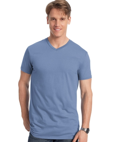 498V Hanes 4.5 oz., 100% Ringspun Cotton nano-T® V-Neck T-Shirt Catalog