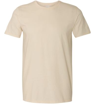 Gildan 64000 G640 Soft Style 30 Singles Ring-spun T-shirt  NATURAL