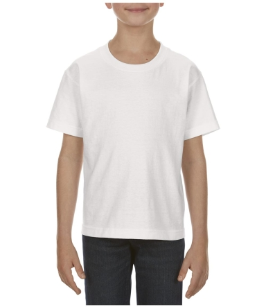 3381 ALSTYLE Youth Retail Short Sleeve Tee WHITE