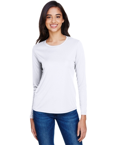 NW3002 A4 Women's Long Sleeve Cooling Performance  WHITE