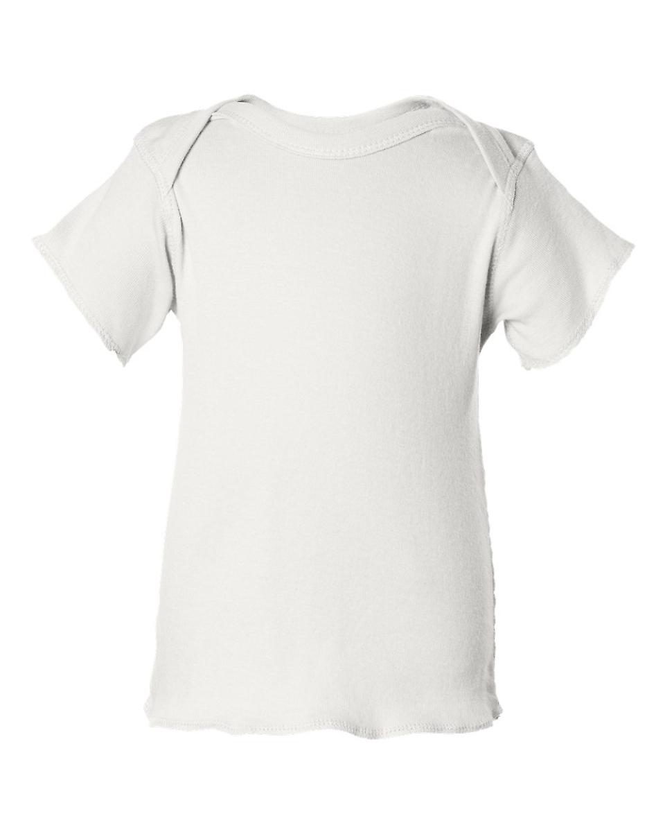 1b1b741b85 3400 Rabbit Skins® Infant Lap Shoulder T-shirt WHITE