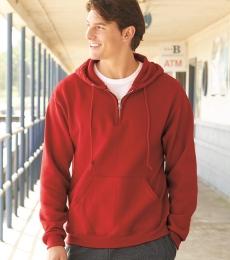 Jerzees 994MR NuBlend Quarter-Zip Hooded Sweatshirt