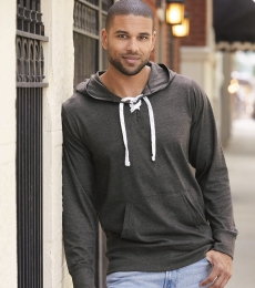 J America 8231 Sport Lace Jersey Hooded Pullover T-Shirt