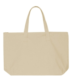 Liberty Bags 8863 10 Ounce Cotton Canvas Tote with Zipper Top Closure