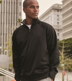 Jerzees PF95MR Dri-Power® Sport Quarter-Zip Cadet Collar Sweatshirt