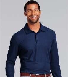 Gildan G729 DryBlend Double Pique Long-Sleeve Polo