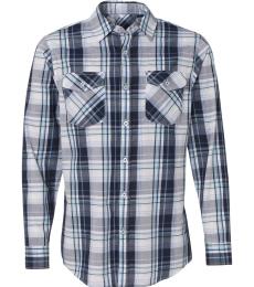 Burnside 8202 Long Sleeve Plaid Shirt