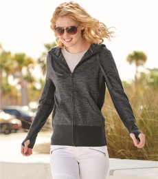 Independent Trading Co. PRM655BZ Women's Baja Stripe Terry Hoodie